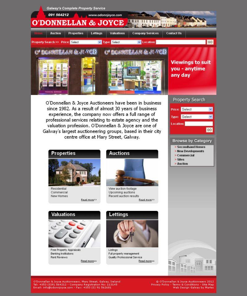 ODonnellan and Joyce Auctioneers Galway Website
