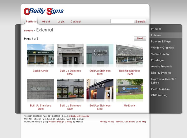 OReilly Signs Galway Web Site Design