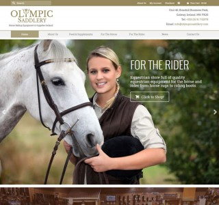 Olympic Saddlery Ecommerce Web Design Galway Ireland