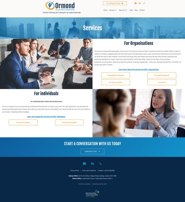 Ormond Leadership Web Design Galway