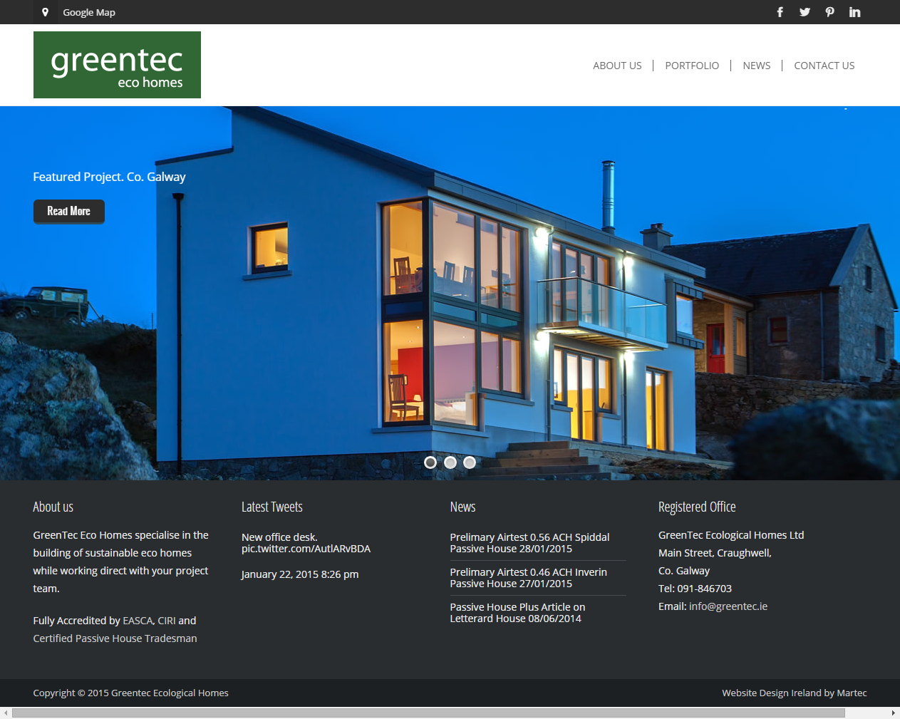 Passive House Builders Website Design Galway Web Design