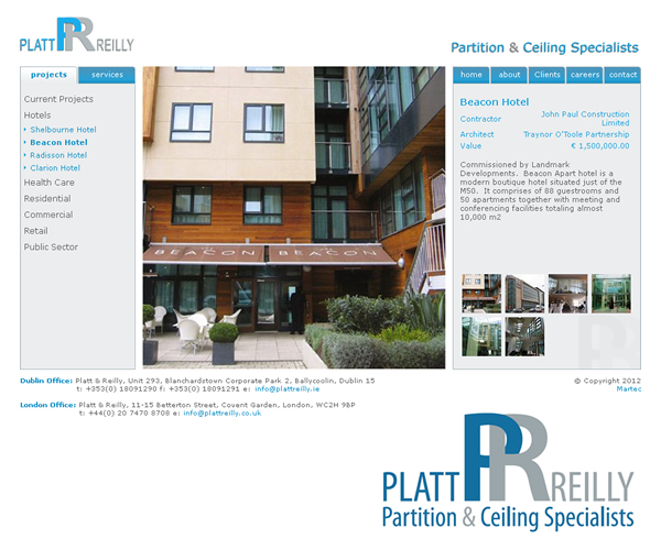 Platt Reilly Dublin Logo Design and Website