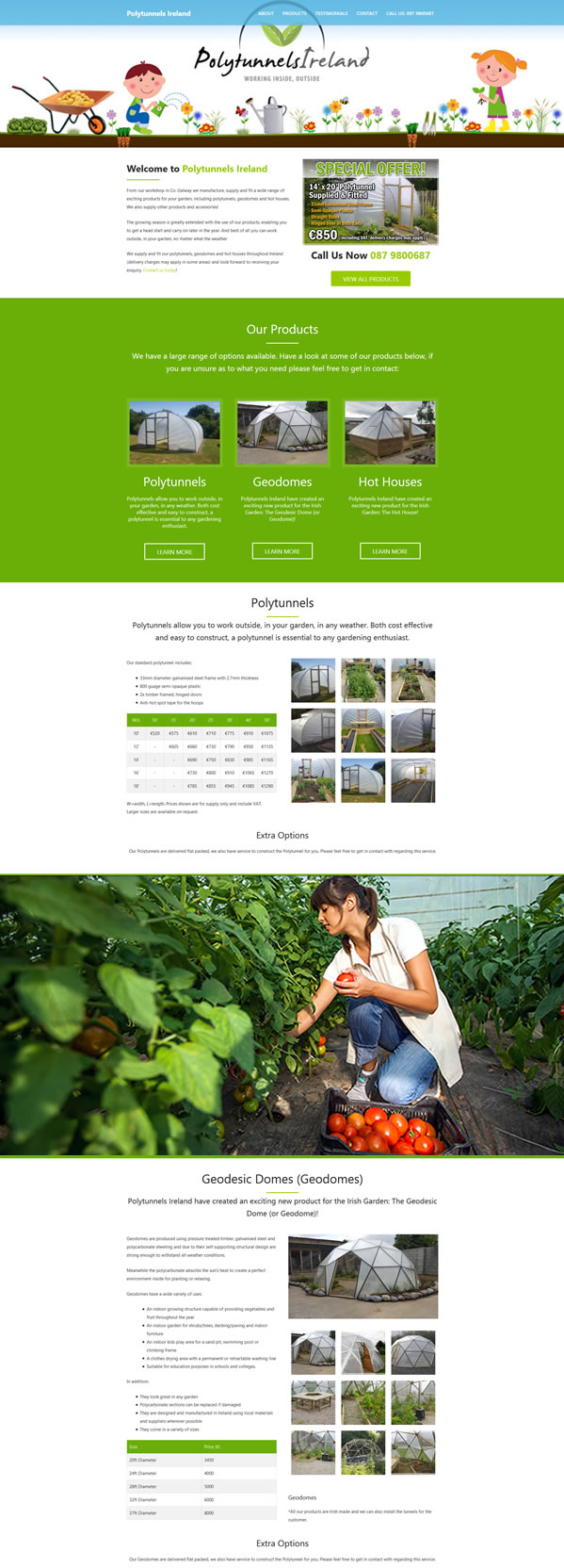 Polytunnels Ireland – Polytunnels Geodomes Hot-Houses Ireland Web Design