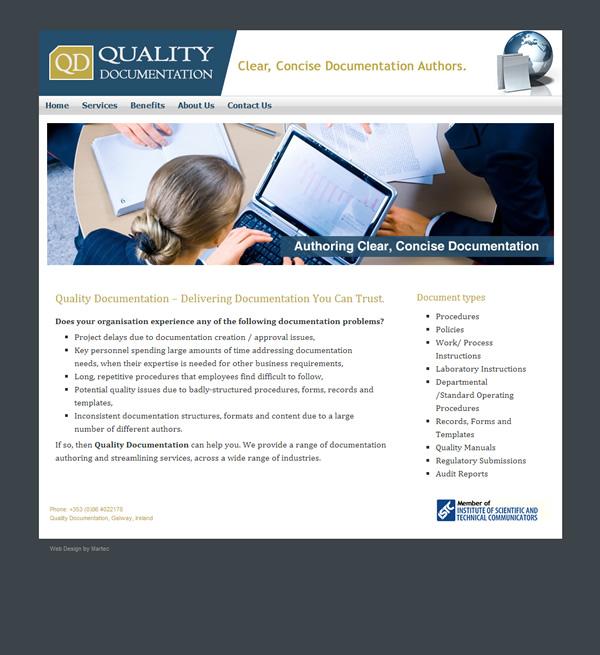 Quality Documentation Galway Ireland Logo & Web Design