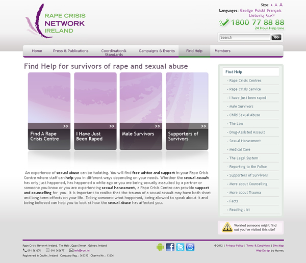 RCNI Ireland Website Design