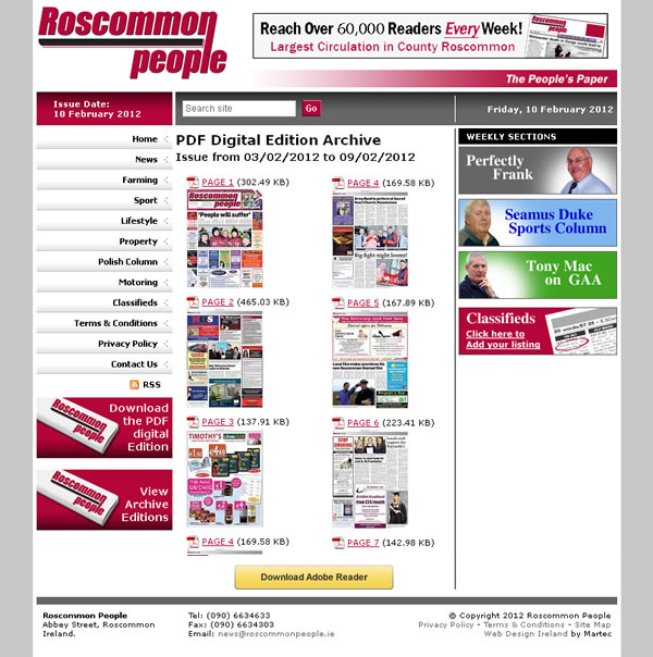 Roscommon People Logo and Website Design
