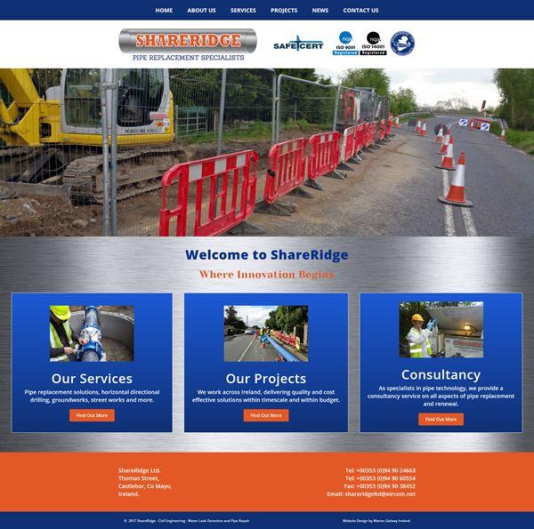 Shareridge Construction Logo & Web Design