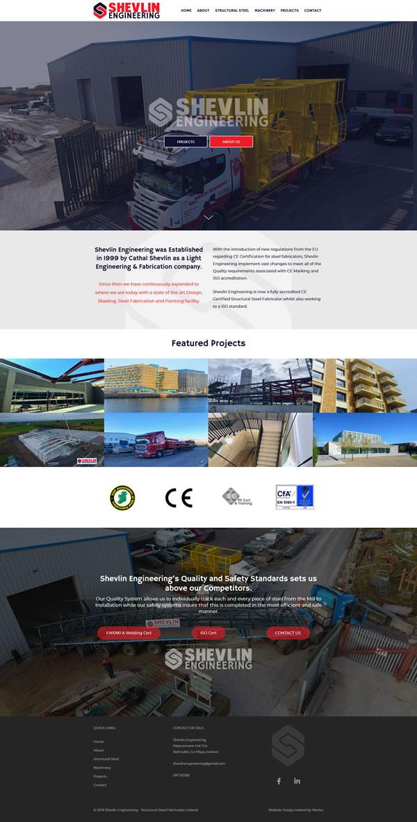 Shevlin Engineering – Structural Steel Fabrication Ireland