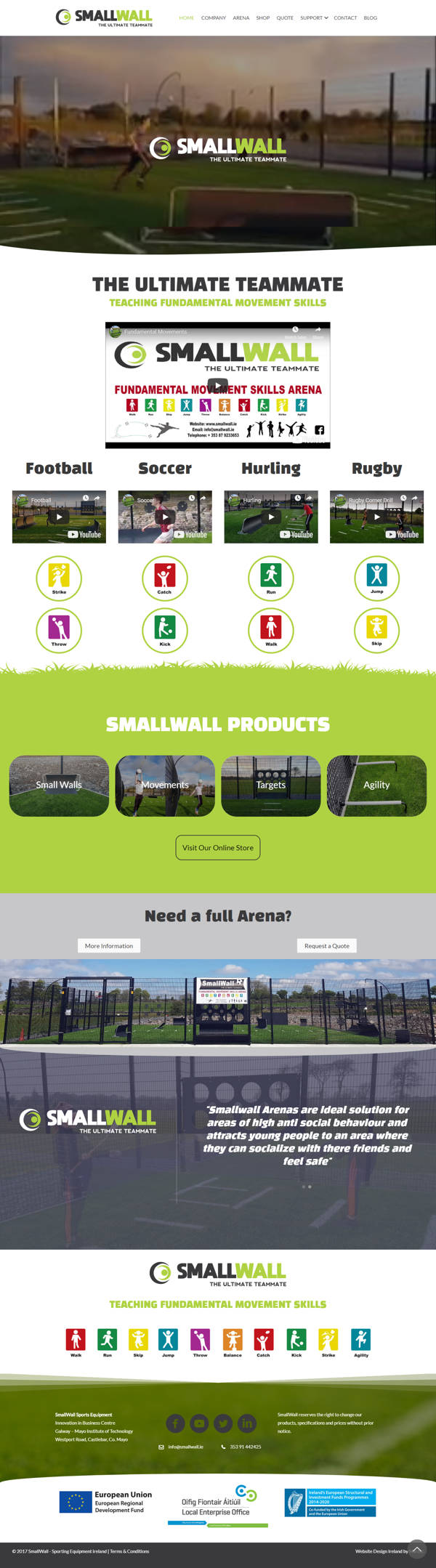 SmallWall – Sporting Equipment ireland