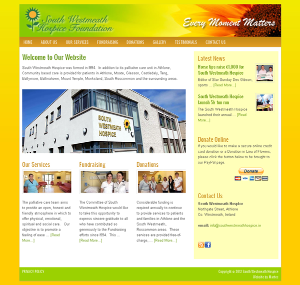 South Westmeath Hospice Website Design