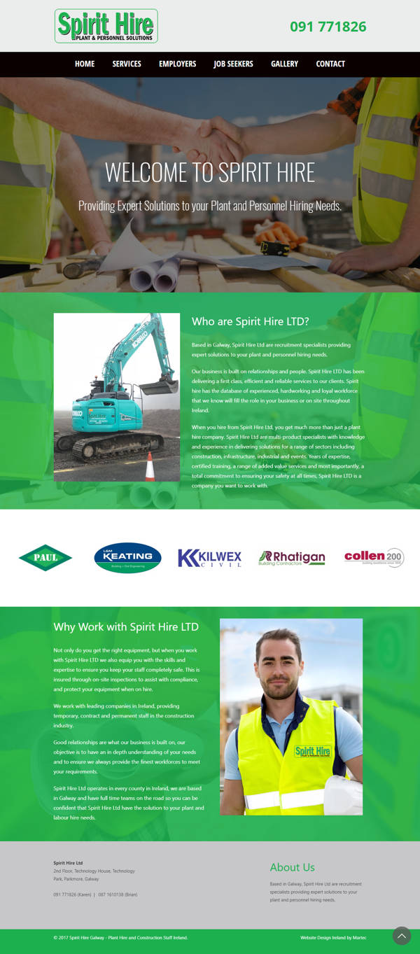 Spirit Hire Galway – Plant Hire and Construction Staff Ireland