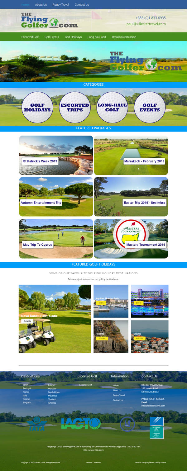 The Flying Golfer Golf Holiday Packages from Ireland