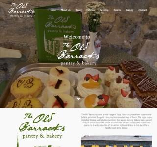 The Old Barracks Restaurant Web Design Galway Ireland