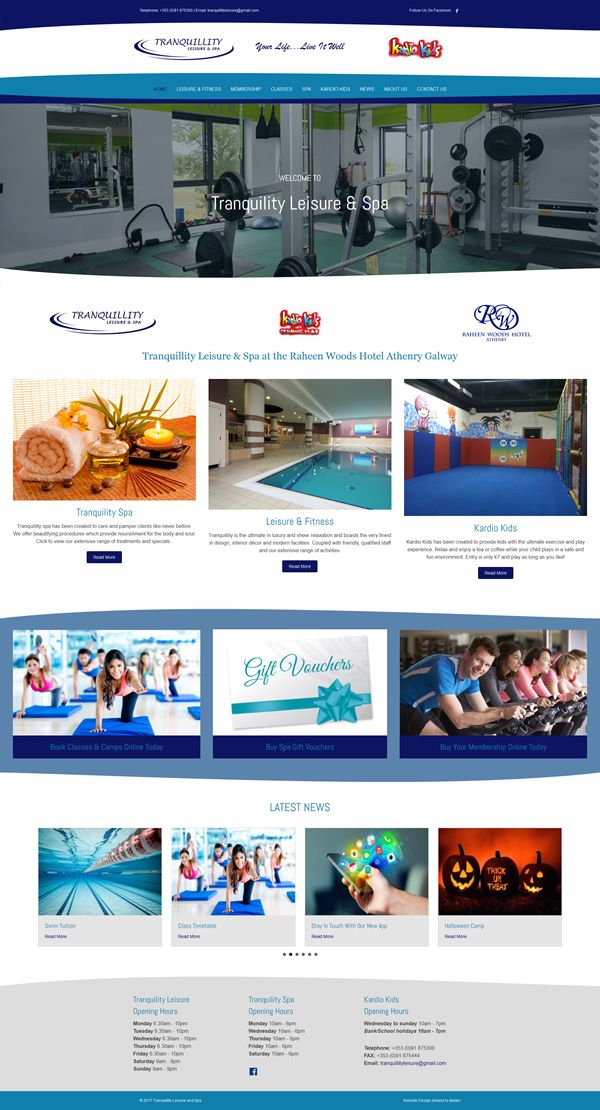 Tranquillity Leisure & Spa Gym Website