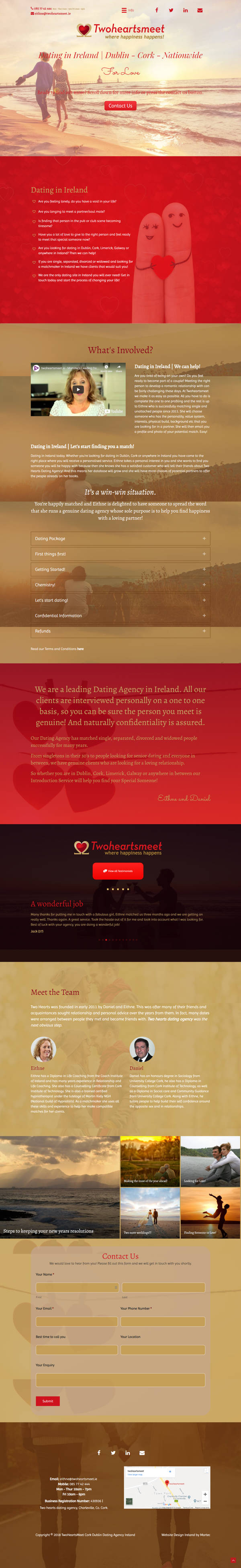 Speed Dating and online dating Ireland - tonyshirley.co.uk