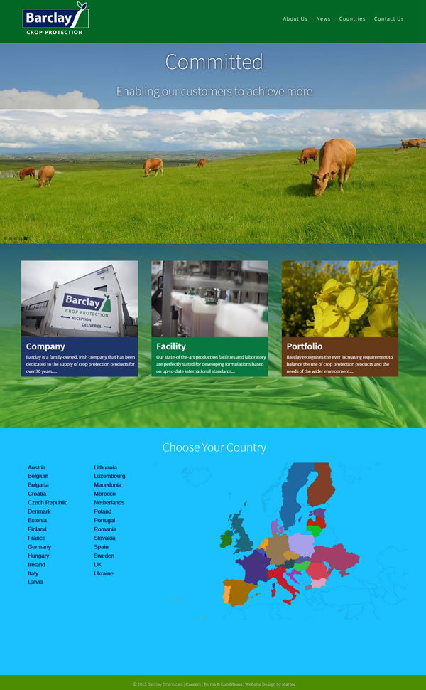 Website Design for Barclay Chemicals Ireland