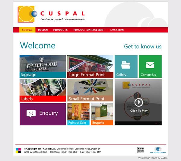 cuspal dublin web site design